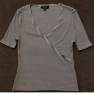 Top shop robbed stripped cropped top